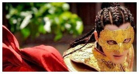 古装剧中戴面具的明星林更新高大英俊难掩帅气